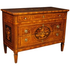 Italian Dresser in Inlaid Wood in Louis XVI Style from 20th Century