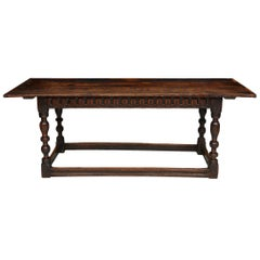Charles I Period Oak Refectory Table