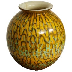 Mustard Yellow Globe Vase