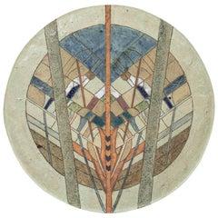 1970s Handmade Pottery Platter