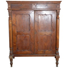 Chinese Dutch Colonial Lacquered Armoire