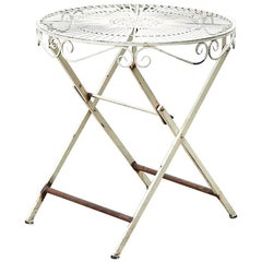French White Painted Bistro Table