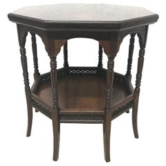E W Godwin, Attributed to Anglo Japanese Rosewood Eight Leg Table
