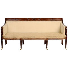 Federal Period Carved Mahogany Sofa Attributed to Duncan Phyfe NY, circa 1810