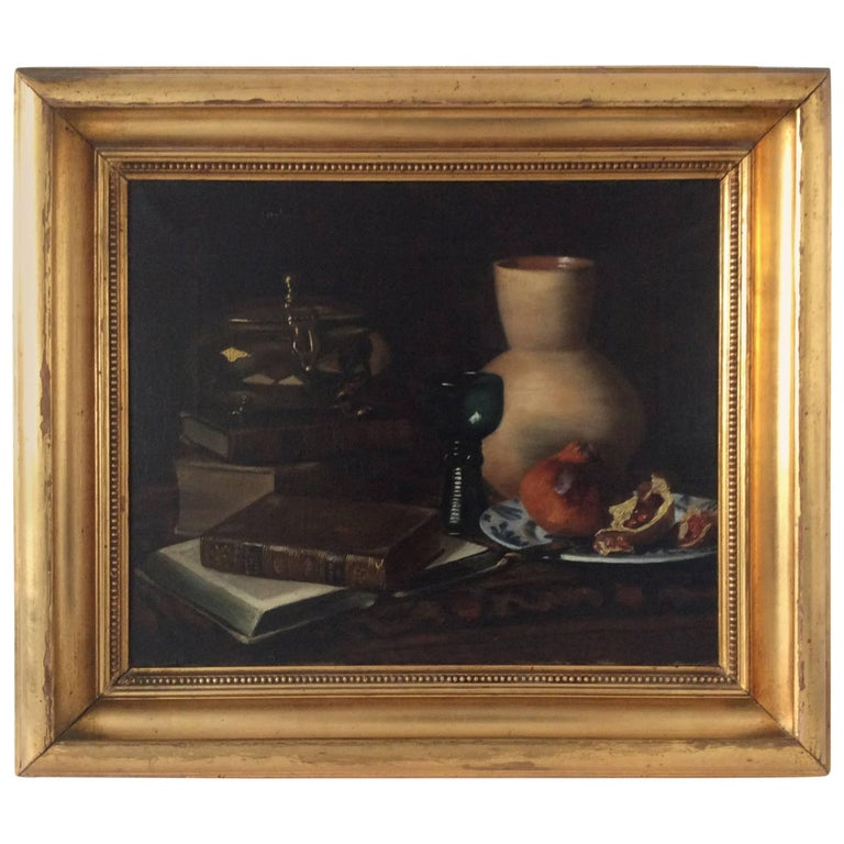 Still-Life with Pomegranate, Jug and Glass Etc For Sale