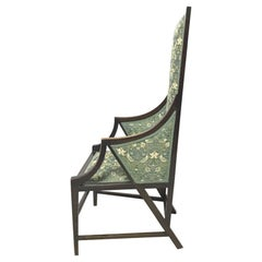 Liberty & Co. Anglo-Japanese Armchair Covered in a Morris & Co. Strawberry Thief