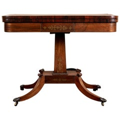Antique Rosewood Games Table