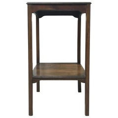 Arts & Crafts Petite Rosewood Two-Tier Wine, Plant, Pedestal or Side Table