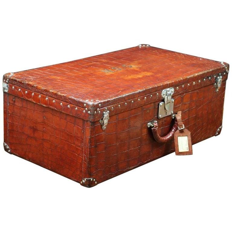 20th Century Very Rare Louis Vuitton Alligator Suitcase