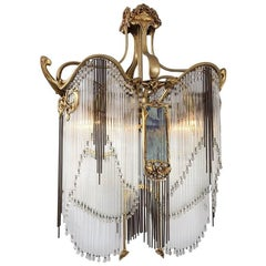 French Art Nouveau Chandelier by Hector Guimard