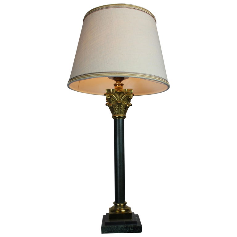 Italian Table Lamp with Marble Base, 1950s