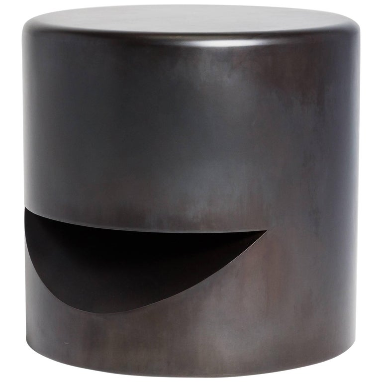 Spun Stool, Blackened Steel