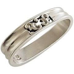Georg Jensen Acorn Sterling Silver Napkin Ring #110A