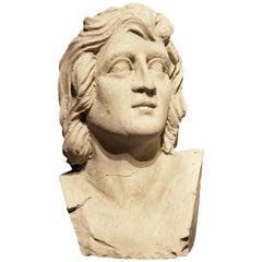 Italian De Rossi Plaster Bust, 1930s