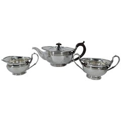 Antique Scottish Sterling Silver Regency Revival Tea Set