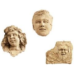 Italian De Rossi Plaster Bust Set of Three, 1930s