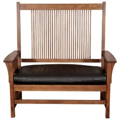 Stickley Tall Back Settee