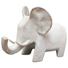 Ceramic Elephant Sculpture by Bruno Gambone, circa 1970s, Italy