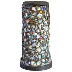 Mosaic Memory Ware Table Lamp from Broken Plates