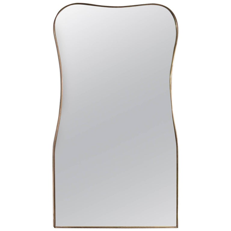 Shapely Vintage Italian Mirror For Sale