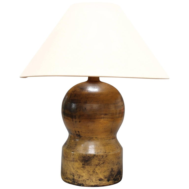 Ceramic Gourd-Shaped Lamp by Jacques Blin, circa 1950s