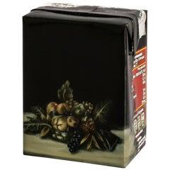 Untitled #9 from 'Biotá' Series, Still Life Painting on Cardboard Box