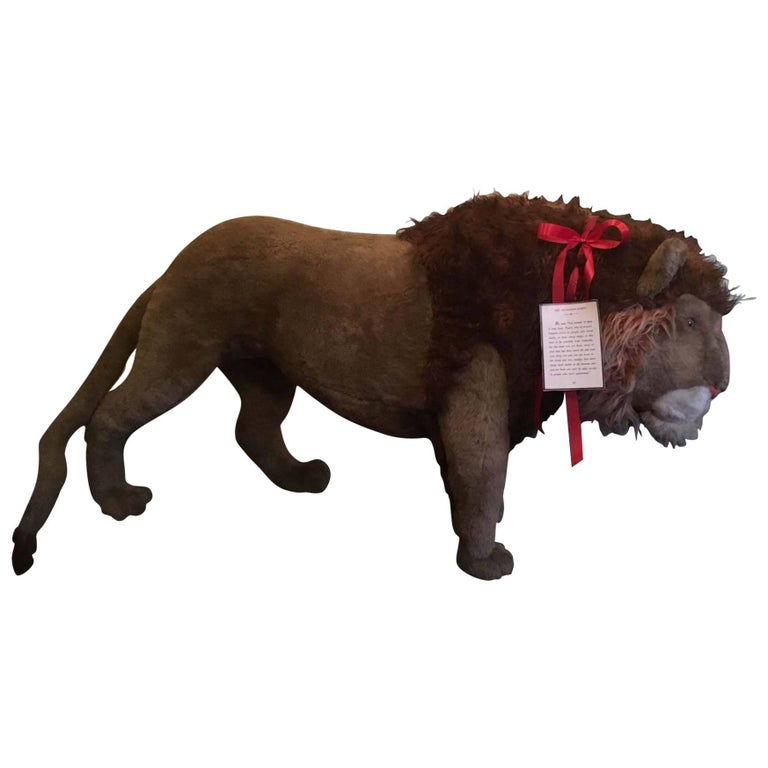 Rare German Stuffed Studio Lion Life Size
