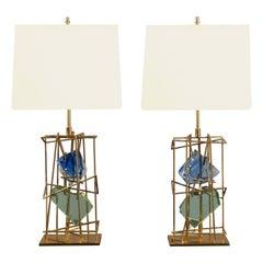 Pair of Table Lamps by Roberto Rida (B. 1943), Italy, 2017