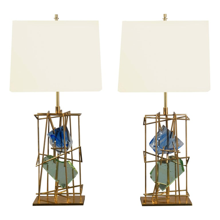 Pair of Table Lamps by Roberto Rida (B. 1943), Italy, 2017