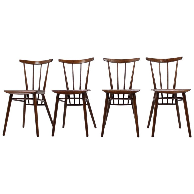 Set of Four Dining Chairs For Sale
