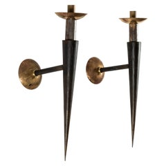 Pair of Torchiere Wall Sconces
