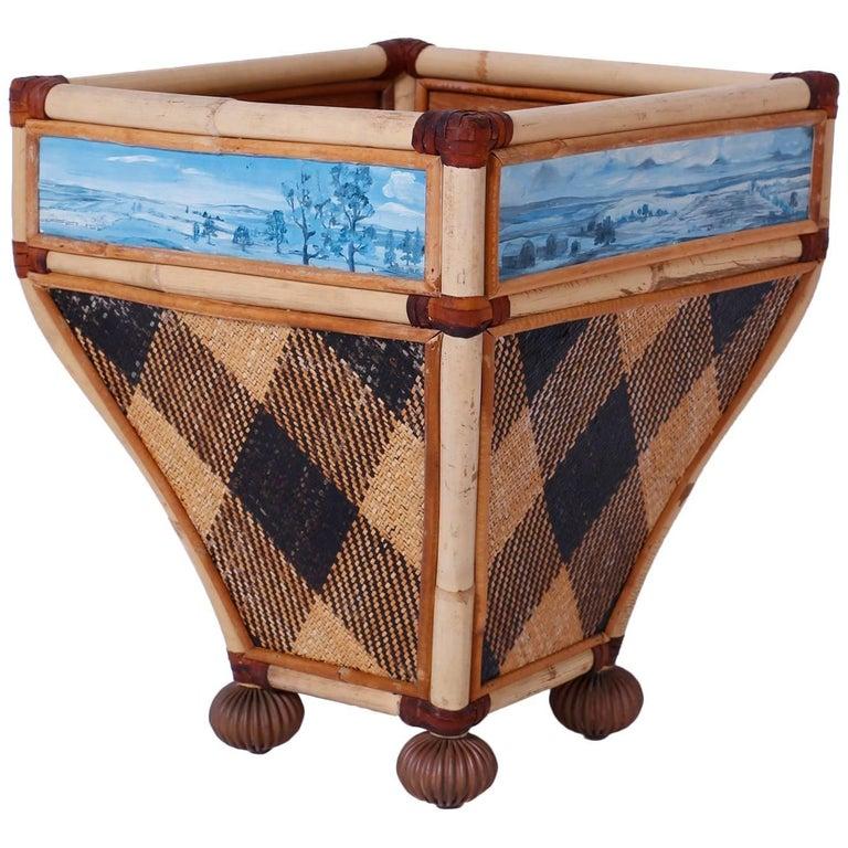 Decorative Waste Basket For Sale