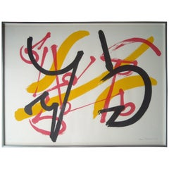Claire Falkenstein Very Fine Signed Abstract Lithograph, EA in Pencil Framed