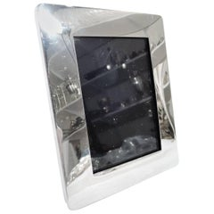 Striking American Modern Sterling Silver Picture Frame