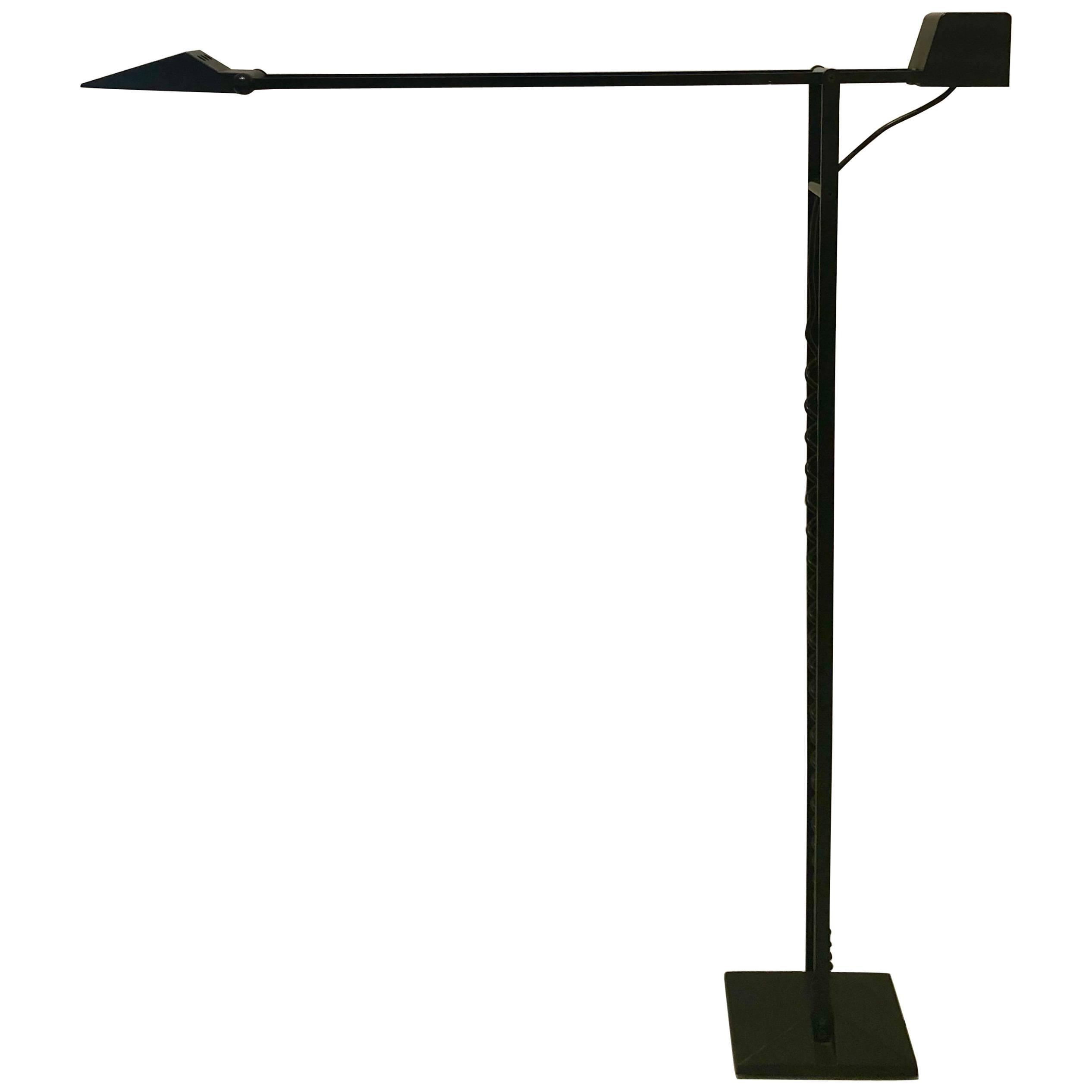 Multidirectional Postmodern Memphis Era Tall Italian Floor Lamp by Artup