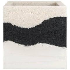 Planter, Crystal Quartz, Black Silica and White Cement by Fernando Mastrangelo