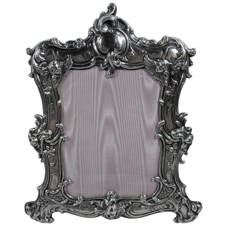 Fancy Rococo Sterling Silver Picture Frame by Gorham