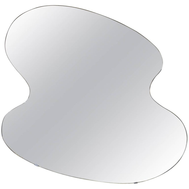 Midcentury Large Free-Form Wall Mirror