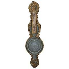 18th Century French Louis XVI Giltwood Barometer