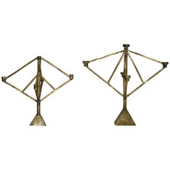 Sprue Candelabra Four and Five in Bronze by Fort Standard