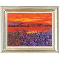 Andrea Razzaauti Painting of Irish Poppy Field