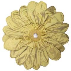 Gerber Daisy Throw Pillow, Unusual Original Design, Signed Limited Ed. Pillow