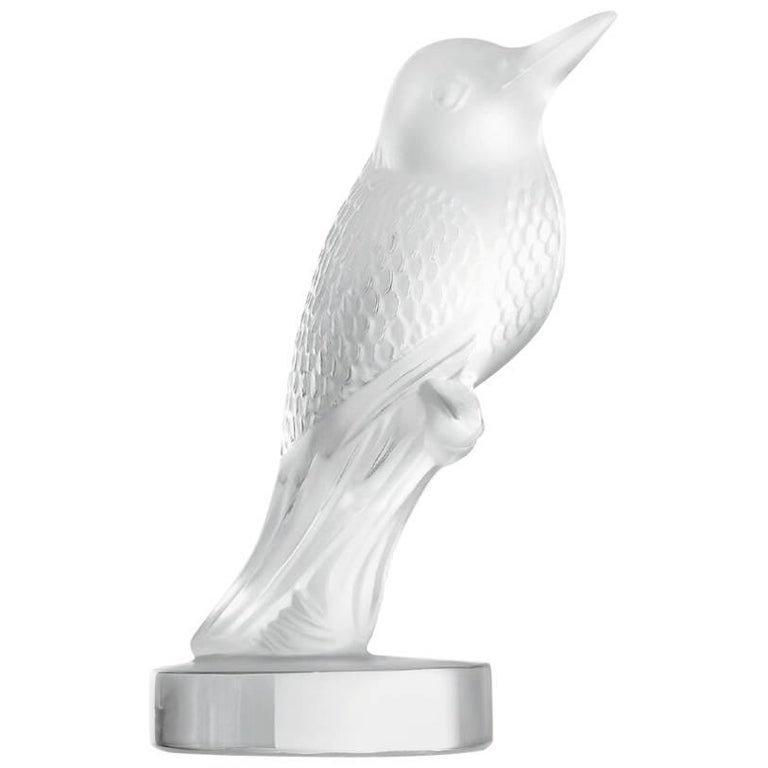 Lalique Hummingbird Figure/Sculpture in Clear Crystal For Sale