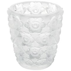 Lalique Anemones Votive in Clear Crystal