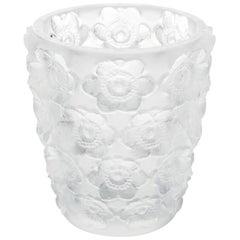 Lalique Anemones Votive Clear Crystal