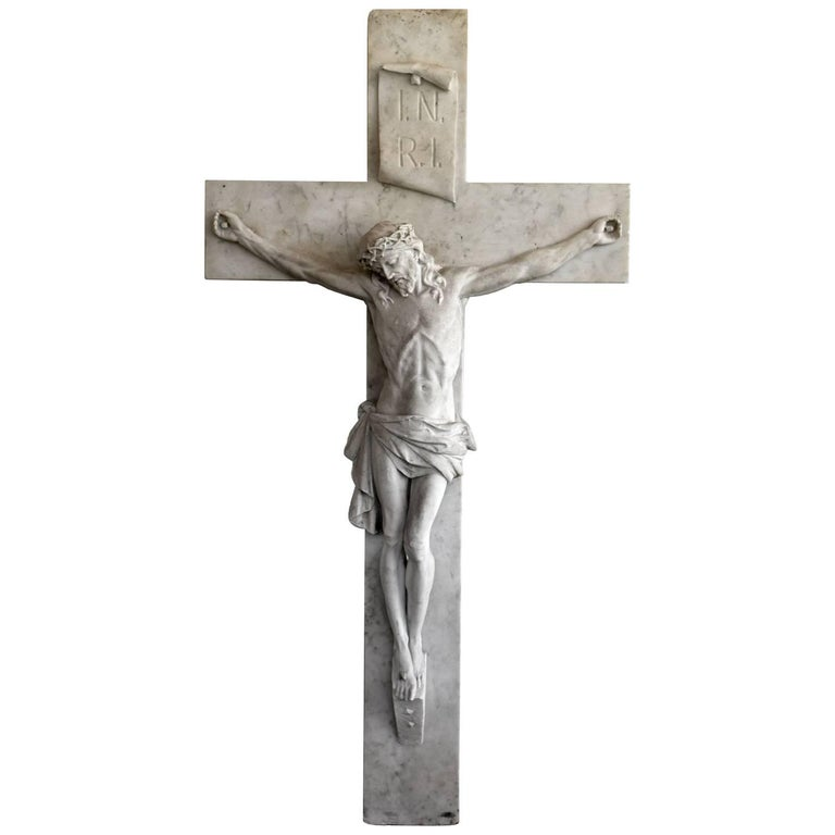 Jesus on the Cross, Sculpture in Marble, 115x60cm