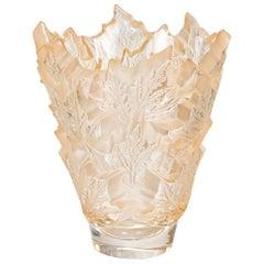 Lalique Champs-Élysées Large Vase in Gold Luster Crystal