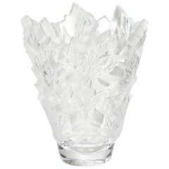 Lalique Champs-Elysées Large Vase in Clear Crystal