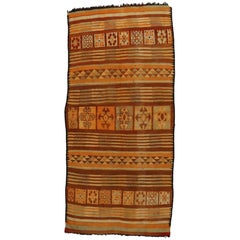 Vintage Berber Moroccan Kilim Rug, Flat-Weave Runner