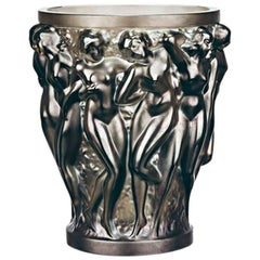 Lalique Bacchantes Small Vase in Bronze Crystal
